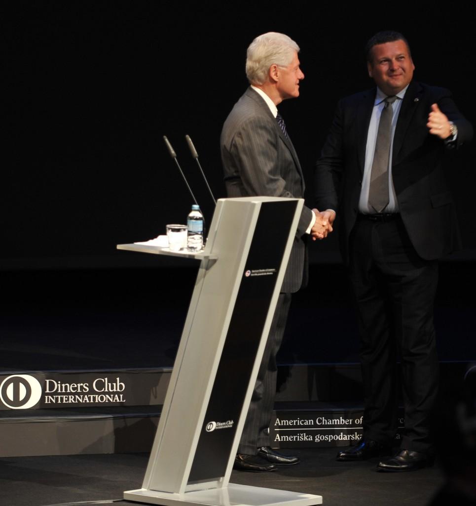 Tomaž Lovše i Bill Clinton